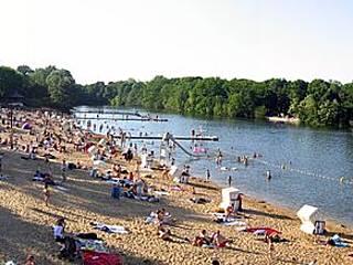 Strand am Plötzensee. © Frokor